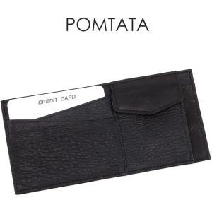 ポンタタ 財布 pomtata 長財布 スリムウォレット 本革 BLACK ブラック 黒 レディース p1973 bag-danjo