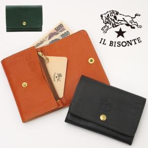 イルビゾンテ IL BISONTE / 二つ折り財布 レザー  メンズ レディースc0522|bag-danjo