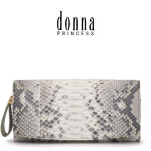 donna PRINCESS ドンナ プリンセス / 長財布 ヘビ革 フラップ 大容量 レディース 0091101|bag-danjo