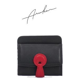 アルカン ARUKAN/ミニ財布 小銭入れ付き 半札入れ ラムポイント 1055354|bag-danjo