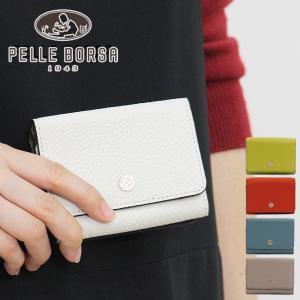 ペレボルサ PELLE BORSA / コンパクト財布 三つ折り 本革 マーノグッズ Mano Goods 4723|bag-danjo