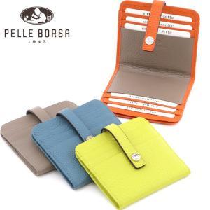 ペレボルサ 財布 PELLE BORSA カードケース コンパクト財布 レディース 二つ折り 本革 マーノグッズ mano goods 4727|bag-danjo