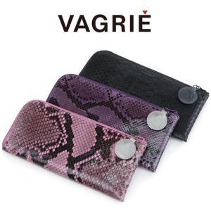 ヴァグリエ vagrie / 長財布 L字ファスナー 薄型 本革 パイソン レディース メンズ s0026|bag-danjo