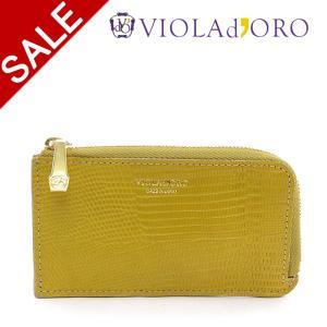 ヴィオラドーロ 財布 VIOLAd'ORO PORTA ポルタ コインケース カードケース 小銭入れ ハンディウォレット リザード型押し レザー レディース v-5042|bag-danjo