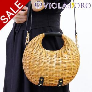 50%OFF / ヴィオラドーロ バッグ かご かごバッグ miro ミロ VIOLAd'ORO ショルダー ラタン 斜めがけ レディース 春夏 店舗 公式 v-8237|bag-danjo