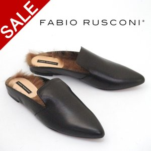 ファビオ ルスコーニ fabio rusconi / バブーシュ ファー付き スリッパサンダル 3747|bag-danjo