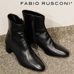 ファビオルスコーニ ブーツ ショートブーツ fabio rusconi レディース ヒール 本革 ブラック 黒 4985|bag-danjo