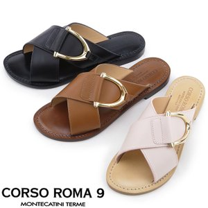 コルソローマ サンダル CORSO ROMA 9 ミュール レディース クロスベルト 本革 春夏 b456|bag-danjo