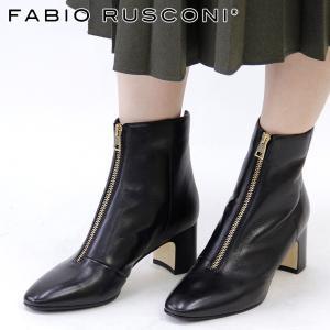 ファビオルスコーニ ブーツ ショートブーツ fabio rusconi レディース ヒール 本革 ブラック 黒 callas|bag-danjo