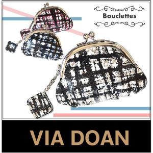 VIA DOAN 財布 コインケース ヴィア ドアン ブクレット 日本製 牛革 レディース 小銭入れ がま口 型押し 265|bag-loire