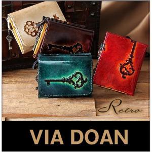 レトロ 長財布 三つ折り財布 ドアン ドアン 日本製 DOAN DOAN ウォレット レディース ロング ウォレット 牛革 財布 d-742-w m s l bag-loire