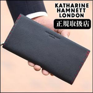 キャサリンハムネット 財布 カラーテーラード 長財布 ラウンドファスナー 牛革 KATHARINE HAMNETT 財布 メンズ レディース m s l 490-51908 bag-loire