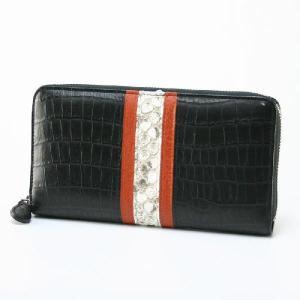 プレシャス(PRECIOUS)牛革クロコとパイソンレザーのラウンドファスナー長財布25-chpa-11369|bag-luggage-fujiya
