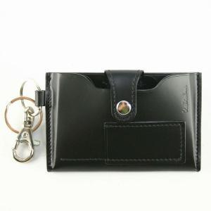 KOKUHO純国産最高級皮革 ETCカード&キー多機能ホルダー  ブラック85-2301-01|bag-luggage-fujiya