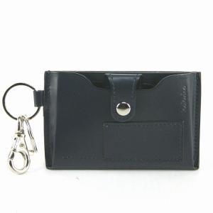 KOKUHO純国産最高級皮革 ETCカード&キー多機能ホルダー  ネイビー85-2301-03|bag-luggage-fujiya