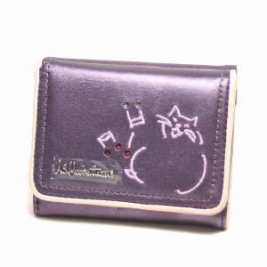 A.S.マンハッタナーズ シンキング(Manhattaners) 3つ折り札入れ  07パープルac74093-07|bag-luggage-fujiya