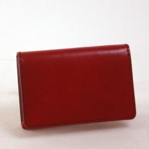 ラゲッジ アオキ(Luggage AOKI)(ラ・ガレリア) la GALLERIA 名刺入れ/カードケース Laccato ラッカート 30レッド|bag-luggage-fujiya