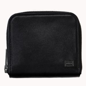 吉田カバン ポーター(PORTER)PORTER PLUME WALLET ラウンドファスナー10ブラック|bag-luggage-fujiya