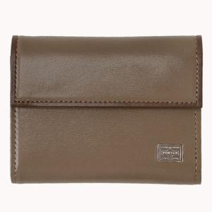 吉田カバン ポーター(PORTER)PORTER PLUME WALLET 3つ折財布40オーク|bag-luggage-fujiya