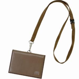 吉田カバン ポーター(PORTER)PORTER PLUME ID PASS HOLDER パスフォルダー40オーク|bag-luggage-fujiya