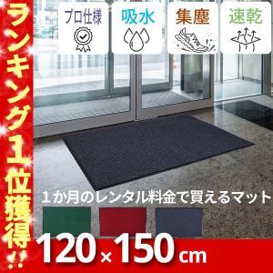 【送料無料】KURASHI 玄関マット 屋内 屋外 滑り止め 業務用 無地 シンプル 泥落とし【120×150cm】の写真