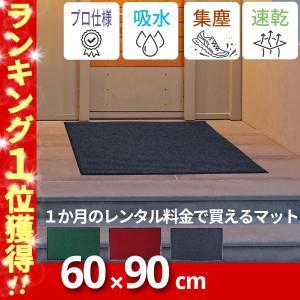 【送料無料】KURASHI 玄関マット 屋内 屋外 滑り止め 業務用 無地 シンプル 泥落とし【60×80cm】の写真