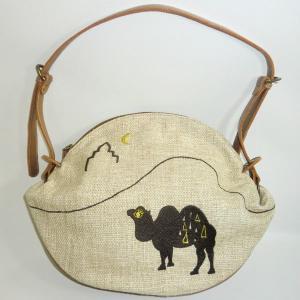 丸ショルダー ラクダ|bag-tantan