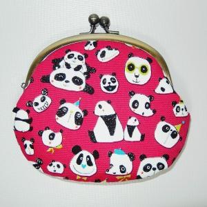 がま口 ピンクパンダ|bag-tantan