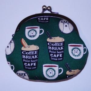 がま口 シロクマコーヒー|bag-tantan
