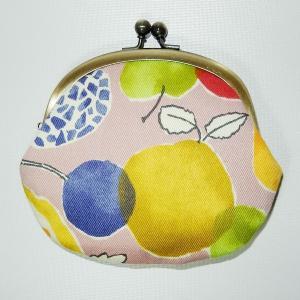 がま口 水彩フルーツ|bag-tantan