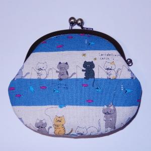 がま口 釣りネコ|bag-tantan