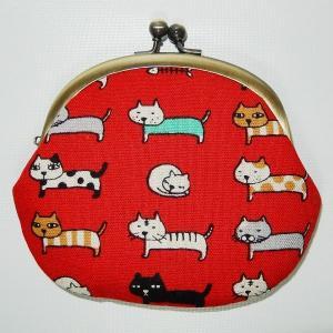 がま口 横向ネコ|bag-tantan