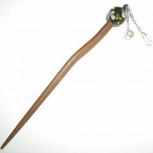 木製かんざし 深緑|bag-tantan