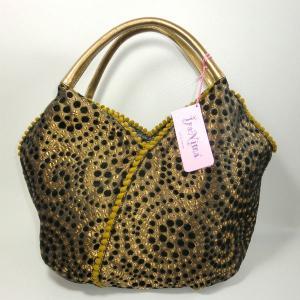 イパニマ レザーハンドルトート ゴールド|bag-tantan