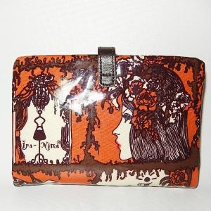 イパニマ二つ折財布 シグネチャー ブラウン |bag-tantan