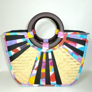 カゴバッグ カラフルポップ(ナチュラル)|bag-tantan