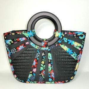 カゴバッグ 花柄|bag-tantan