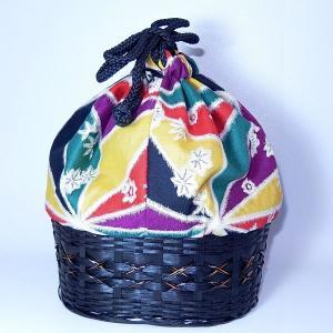 カゴ巾着 銘仙風|bag-tantan