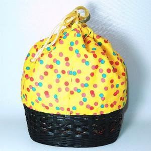 カゴ巾着 黄色|bag-tantan