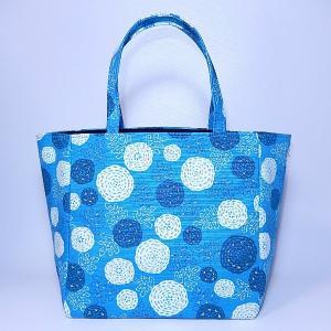 ミニトート 水玉ブルー bag-tantan