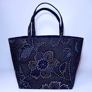 ミニトート 和柄黒|bag-tantan