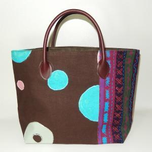トート パッチワーク ブラウンパープル|bag-tantan
