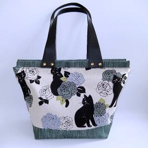 ビッグトート 黒猫 bag-tantan