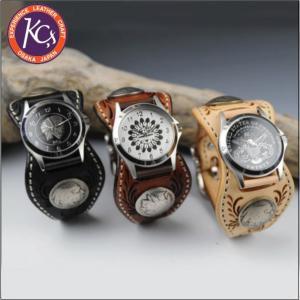 ケイシイズ KPR012-エスパニョーラ フリーカット レザーブレスウォッチ KC's bagpacks