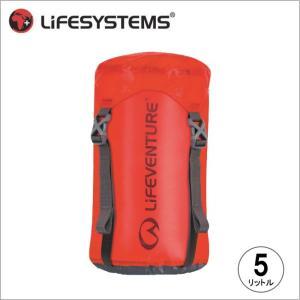 ライフベンチャー L59160-ウルトラライト コンプレッションスタッフサック-5 レッド LIFEVENTURE スタッフサック 防水バッグ 圧縮バッグ|bagpacks