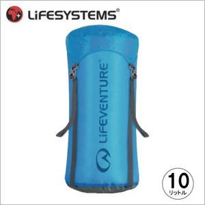 ライフベンチャー L59170-ウルトラライト コンプレッションスタッフサック-10 ブルー LIFEVENTURE スタッフサック 防水バッグ 圧縮バッグ|bagpacks