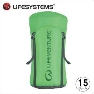 ライフベンチャー L59180-ウルトラライト コンプレッションスタッフサック-15 グリーン LIFEVENTURE スタッフサック 防水バッグ 圧縮バッグ|bagpacks