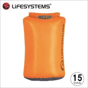 ライフベンチャー L59640-ウルトラライトドライバッグ-15 オレンジ LIFEVENTURE スタッフサック 防水バッグ|bagpacks