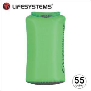 ライフベンチャー L59670-ウルトラライトドライバッグ-55 グリーン LIFEVENTURE スタッフサック 防水バッグ|bagpacks