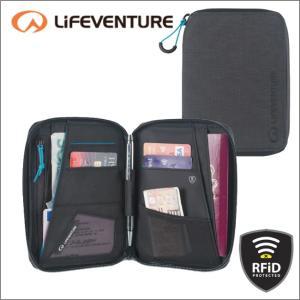 ライフベンチャー L68760-RFiDプロテクト ミニドキュメントワレット ブラック LIFEVENTURE セキュリティポケット カードケース パスポートケース|bagpacks